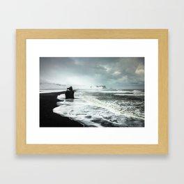 Black Sand beaches in Iceland Framed Art Print