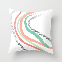 Peach Slide Throw Pillow