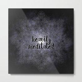 polygon mandala 1 // heavily meditated Metal Print