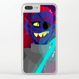 Undyne of Waterfall Clear iPhone Case