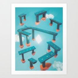 Bridge Over Untroubled Skies - 02 Art Print