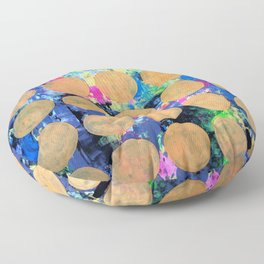 Bubble Wrap Abstract Pop Painting by Robert Erod HUGE COLORFUL ART Floor Pillow