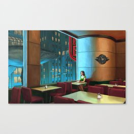 Night Coffee Canvas Print