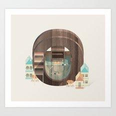 Resort Type - Letter O Art Print