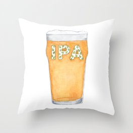 IPA Beer Pint Throw Pillow