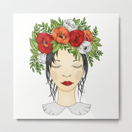 Flowers Queen - Poppies Metal Print