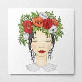 Flowers Queen - Poppies Metal Print