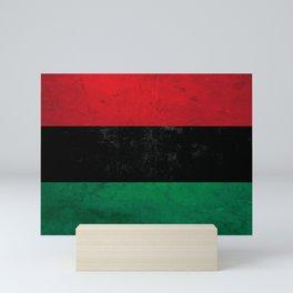Distressed Afro-American / Pan-African / UNIA flag Mini Art Print