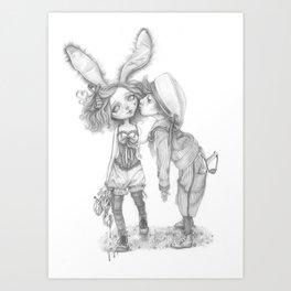 Little Bunny Girl Art Print