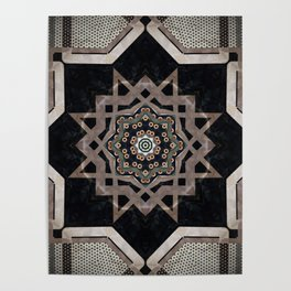 Modern Decorative Pattern Star Mandala Poster