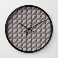 solid color Wall Clocks featuring Solid 9 Placid by KEITTIÖ