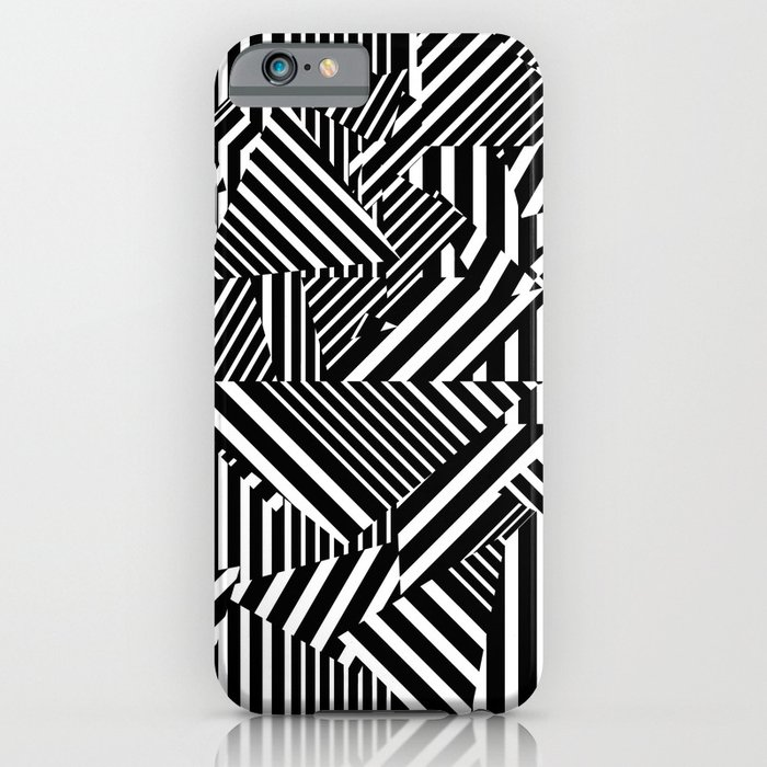 Dazzle Camo #01 - Black & White iPhone Case