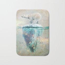 Polar Bear Adrift Bath Mat