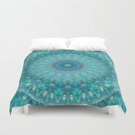 Mandala luminous Opal Duvet Cover