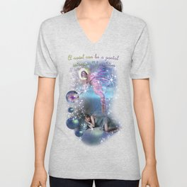 A novel can be a portal into parallel realities Unisex V-Neck