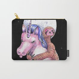 unicorn and sloth are best friends Carry-All Pouch