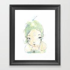 2015 Collection • Green Girl Framed Art Print