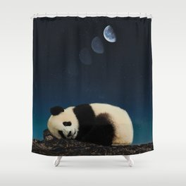 Panda sleeping Shower Curtain