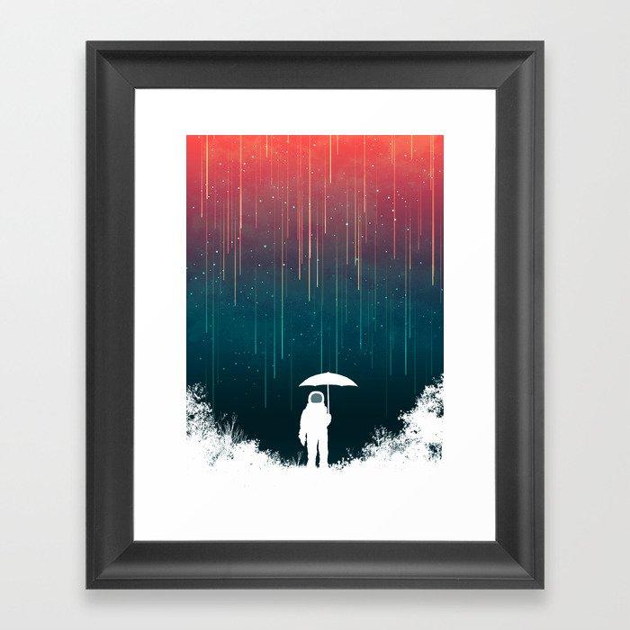 Meteoric rainfall Gerahmter Kunstdruck