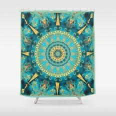Caribbean Gold Mandala Shower Curtain