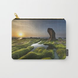 Sunset on Rocky Seashore Carry-All Pouch
