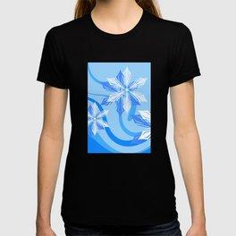 Winter Flower Blue T-shirt