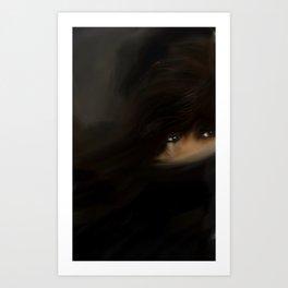 Troubled eye Art Print