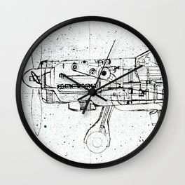 FW - 190 ( B & W) Wall Clock