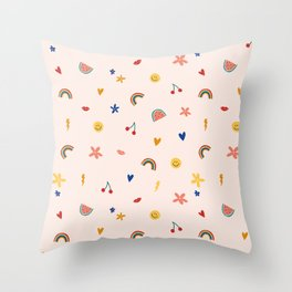 Sticker book Throw Pillow