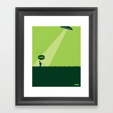 WTF? Ovni! Framed Art Print