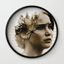 gale says i never smile except in the woods Wall Clock