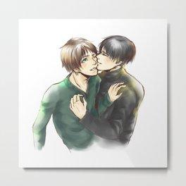 Levi/Eren Cheek kisses Metal Print