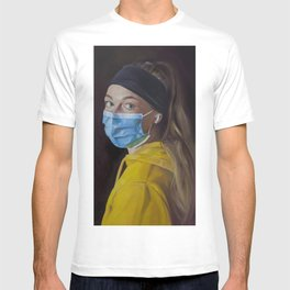Girl with an Airpod (Study After Vermeer) T-shirt