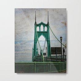 St. John's Bridge Portland Oregon Metal Print