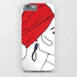 Line Art Woman 15 iPhone Case