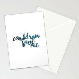 A Court of Mist and Fury- Cauldron Save Me (Plain Blue) Stationery Cards