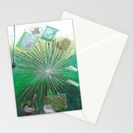 GREEN LIGHT by Elena Raimondi Stationery Cards