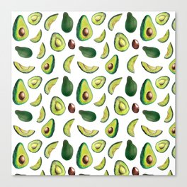 Avocado Pattern Canvas Print
