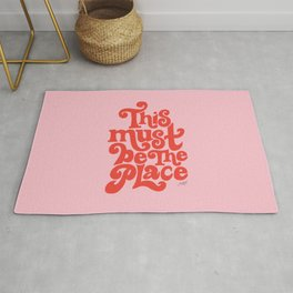 This Must Be The Place (Pink/Red Palette) Rug