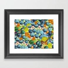 Happy Bubbling Framed Art Print