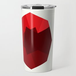Zakhaarif: 8 Points Star with Red Shades Travel Mug