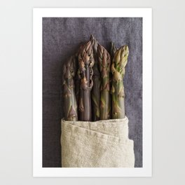 Purple asparagus Art Print