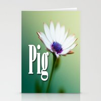 pig Stationery Cards featuring Pig by Wanker & Wanker