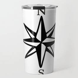 Compass Rose NOSW (Monochrome) Travel Mug