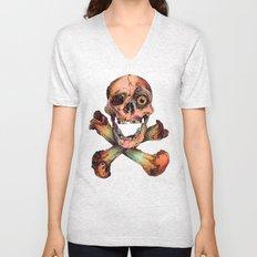 Skull in Color Unisex V-Neck