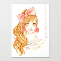 girly Canvas Prints featuring Girly by ilovevanilla