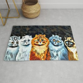 "Louis Wain's Cats ""Five Cats"" Rug"
