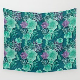 Succulent Love I Wall Tapestry
