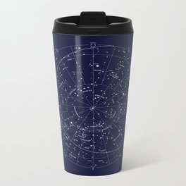 Constellation Map Indigo Metal Travel Mug