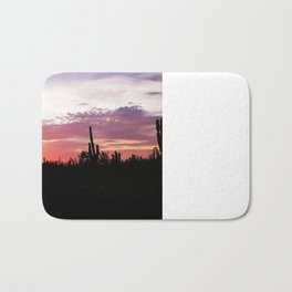 Cacti Sunset Bath Mat